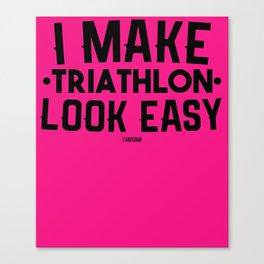 Triathlon Sport fun marathon gift Canvas Print