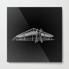 Mies - Berlin National Gallery Sketch (W) Metal Print