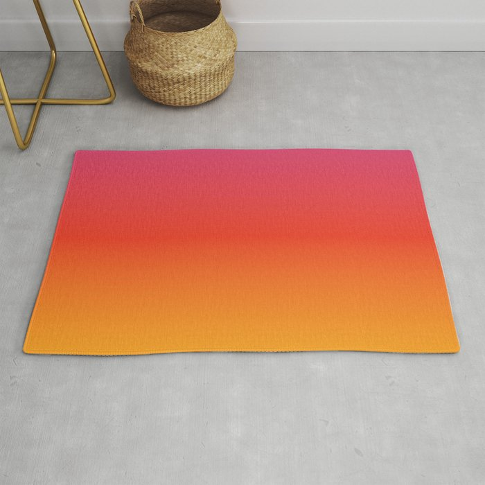 Pink Red Orange Yellow Evening Sky Grant Rug By Yellowparty