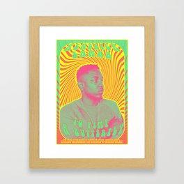 Psychodelic Hip-Hop Poster Series / Kendrick Lamar Framed Art Print