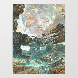 Aqua Space Shipyard Poster