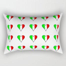 flag of Italia heart- Italy,Italia,Italian,Latine,Roma,venezia,venice,mediterreanean,Genoa,firenze Rectangular Pillow