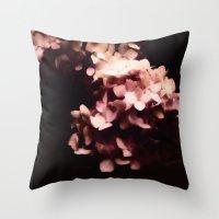 hydrangea Throw Pillows featuring Hydrangea by Christine Belanger
