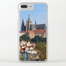 Old town and Prague castle Clear iPhone Case