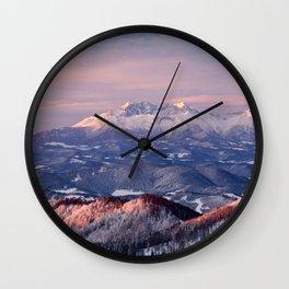 Beautiful sunrise in the Tatra mountains Wall Clock