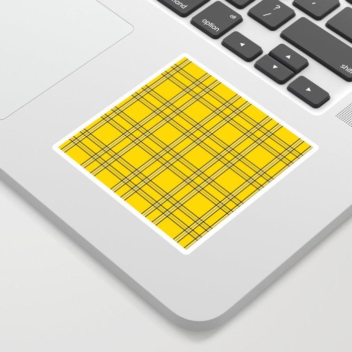 Clueless Plaid Sticker