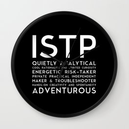 ISTP (black version) Wall Clock