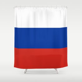 Russian Flag In Red White And Blue Shower Curtain