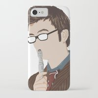 david tennant iPhone & iPod Cases featuring Doctor Who David Tennant by  Steve Wade ( Swade)
