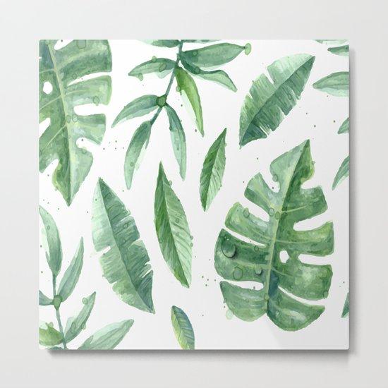Leaves of the tropics Metal Print