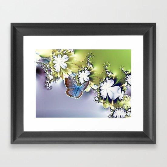 Botanical flutters Framed Art Print