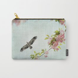 Bird and Flowering Branch Carry-All Pouch