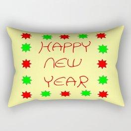 happy new year 3 Rectangular Pillow