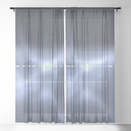 New Band Structure Data Sheer Curtain
