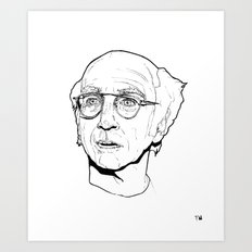Curb your Larry David Art Print