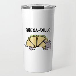 Quesadillo Cute Armadillo Quesadilla Mashup Pun Travel Mug