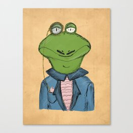 Sophisticated Frog Print Canvas Print