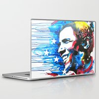 obama Laptop & iPad Skins featuring Obama White by Phil Fung