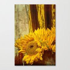 You Are My Sunshine -- Sunflower Botanical Still Life Canvas Print