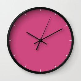 Pink Yarrow | Pantone Fashion Color Spring : Summer 2017 | Solid Color Wall Clock