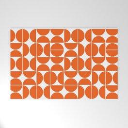Mid Century Modern Geometric 04 Orange Welcome Mat