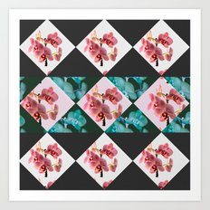 orchid patterns Art Print