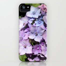 Purple-blue and other colors flowers iPhone Case