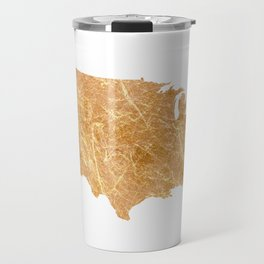 Gold America Travel Mug