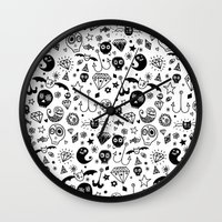 day of the dead Wall Clocks featuring Day of the dead by Farnell