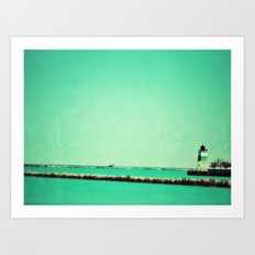 Navy Pier Lighthouse Art Print