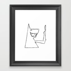 Wolf and Hare Framed Art Print