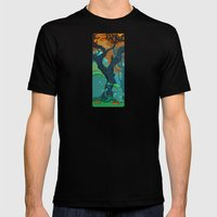 End of Fall MEDIUM Black Mens Fitted Tee
