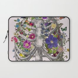 Ribs and flowers Laptop Sleeve