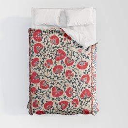 Shakhrisyabz Suzani Uzbekistan Embroidery Print Comforters
