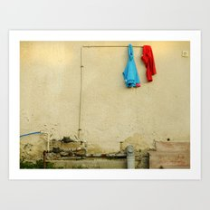 They woke up and one of them was smiling Art Print