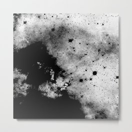 War - Abstract Black And White Metal Print