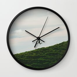 MAN - RUNNING - DOWNHILL Wall Clock