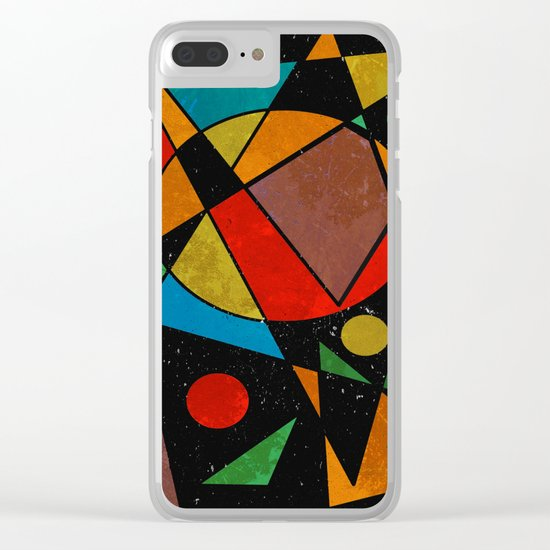Abstract #341 Clear iPhone Case