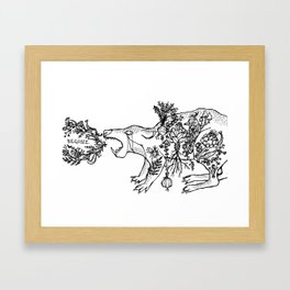 Begone Framed Art Print