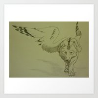 Star Wolf Art Print