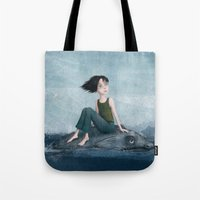 journey Tote Bags featuring Journey by Sona