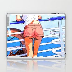 a girl on the boat Laptop & iPad Skin