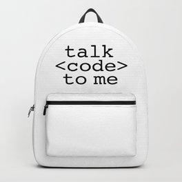 talk code to me Backpack