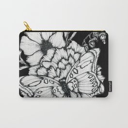 Black Flutter Carry-All Pouch