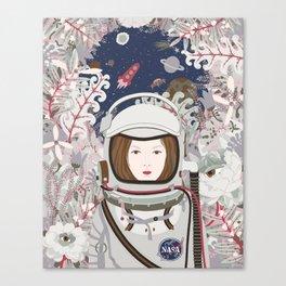 Lady Astronaut Canvas Print
