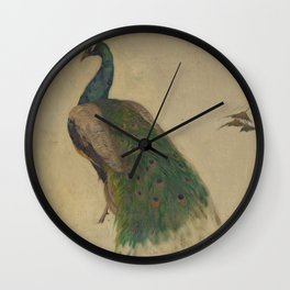 Peacock Sketch Wall Clock