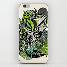 The flying snail iPhone & iPod Skin