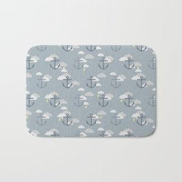 Stormy Nautical Pattern 2 Bath Mat