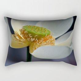 white lotus-closeup Rectangular Pillow