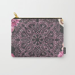 Mandala Night Rose Gold Garden Pink Black Yellow Carry-All Pouch